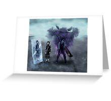 Zabuza and Haku in the mist Greeting Card