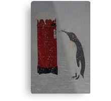 Penguin Post Metal Print