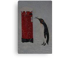 Penguin Post Canvas Print