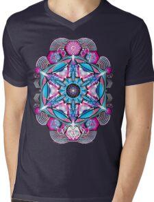 Om-Adjna 'dubstep' mandala Mens V-Neck T-Shirt