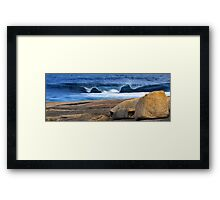 Southern Ocean Wave Crashing onto Rocky Headland Framed Print