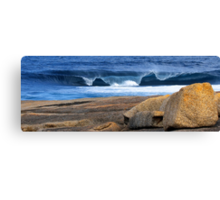 Southern Ocean Wave Crashing onto Rocky Headland Canvas Print