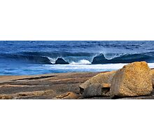 Southern Ocean Wave Crashing onto Rocky Headland Photographic Print
