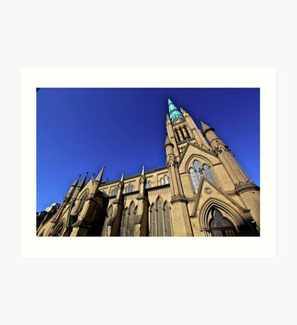 Gothic points-Cathedral, Toronto Art Print