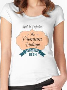 The Premium Vintage 1984 Women's Fitted Scoop T-Shirt