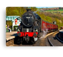 At The Platform - Grosmont Canvas Print