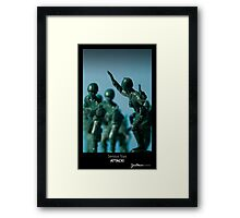 Serious Toys - ATTACK! Framed Print