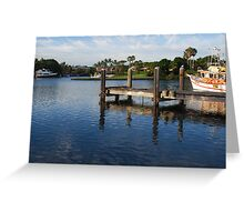 A Tweed Marina Jetty Greeting Card