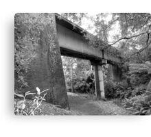 old railway bridge in Tamar Valley - Tasmania    B&W Canvas Print