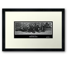 Serious Toys - Behind the corner Framed Print