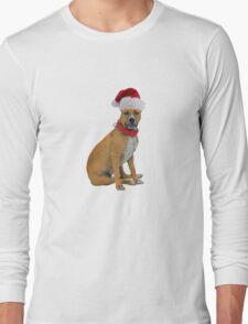 Staffordshire Bull Terrier Christmas Long Sleeve T-Shirt
