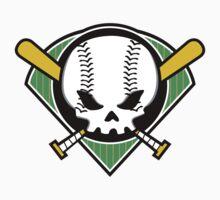Skull Baseball by DetourShirts