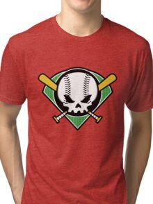 Skull Baseball Tri-blend T-Shirt