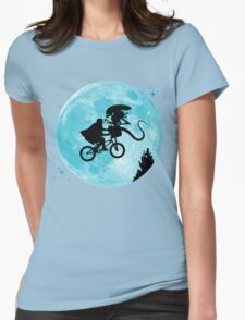 E.T. vs Aliens Womens Fitted T-Shirt