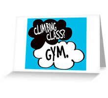 climbing class? gym. Greeting Card