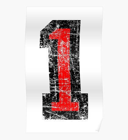 Number 1 One First Birthday 1st Design Poster