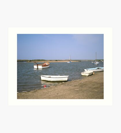High Water at Burnham Overy Staithe Art Print