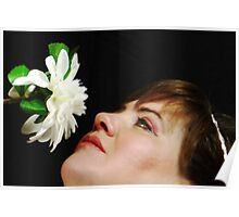 Smelling Flowers Poster