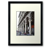 Milan Grand Plaza arches Framed Print