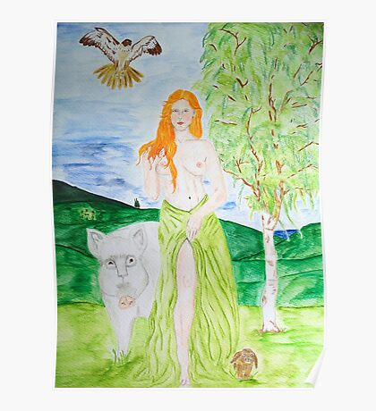 Cerridwen - Goddess of Fertility Poster