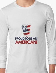 Osama dead - proud to be american Long Sleeve T-Shirt