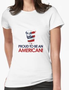 Osama dead - proud to be american Womens Fitted T-Shirt