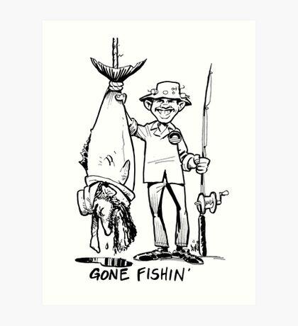 Gone Fishin' Art Print