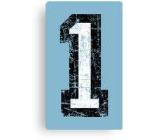 Number 1 One First Birthday 1st Design Canvas Print