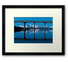 The marina by the bridge Framed Print