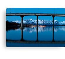 The marina by the bridge Canvas Print