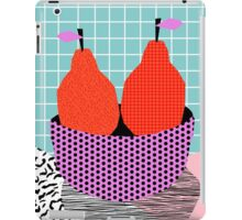 Sprung - 80s throwback style vintage mod retro 1980s neon fruit still life pop art iPad Case/Skin