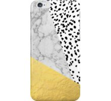 Marble Gold Dots - modern hipster trendy shiny gold foil cell phone case iphone dorm college iPhone Case/Skin