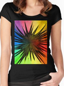 """""""Rainbow Splat"""" Clothing Women's Fitted Scoop T-Shirt"""