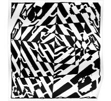 Chaos Maze Optical Illusion by Yonatan Frimer Poster