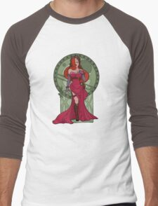 Steampunk Jessica Nouveau Digital T shirt Men's Baseball ¾ T-Shirt