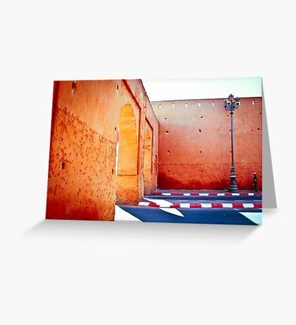 Murs rouges Greeting Card