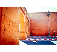 Murs rouges Photographic Print
