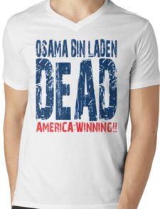 Osama is Dead - Light Mens V-Neck T-Shirt
