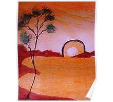 Fantacy tree from a series as they are being created. watercolor Poster
