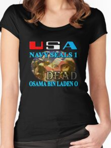 Osama Bin Laden is Dead Women's Fitted Scoop T-Shirt