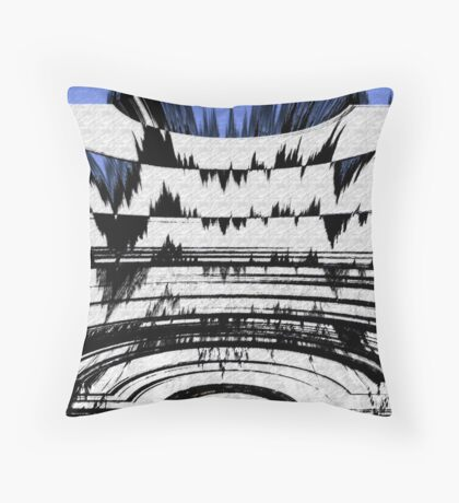 Olympics Abstract Throw Pillow