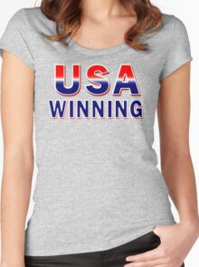 USA Winning Women's Fitted Scoop T-Shirt