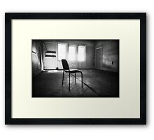 Room with a chair Framed Print