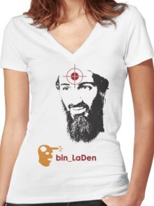 Head Shot Women's Fitted V-Neck T-Shirt