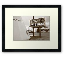 Route 66 - Wigwam Motel Framed Print