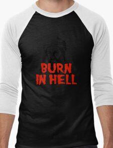Osama Bin Laden Burn in Hell! Men's Baseball ¾ T-Shirt