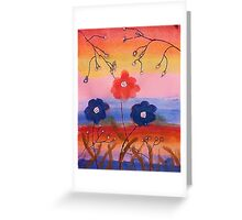 Flowers in fantasy rainbow, watercolor Greeting Card