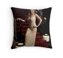 Queen Mary 2 Studio Work  Throw Pillow