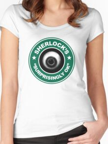 Sherlock's Coffee - Surprisingly OK! Women's Fitted Scoop T-Shirt