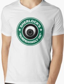 Sherlock's Coffee - Surprisingly OK! Mens V-Neck T-Shirt